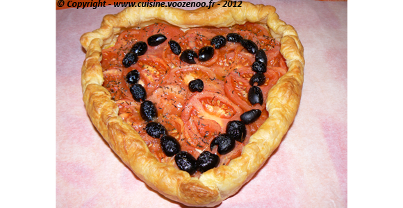 Coeur feuilleté de tomates une