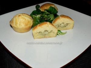 Muffins coeur d'artichaut et zestes de citron presentation