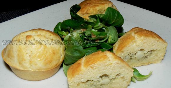 Muffins coeur d'artichaut et zestes de citron une