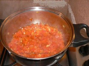 Spaghetti à la crème de poivrons rouges etape3