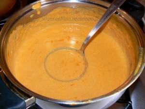 Spaghetti à la crème de poivrons rouges fin