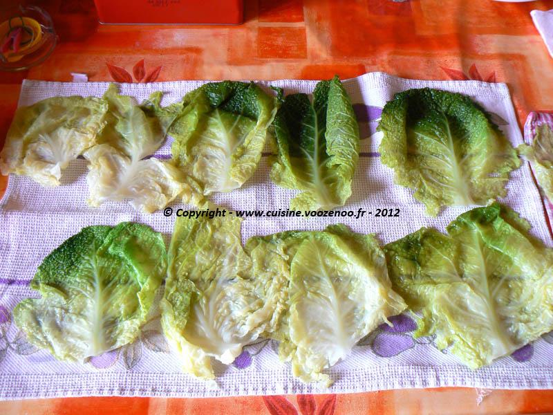 Ballotins de chou vert au reblochon sucré-salé etape1