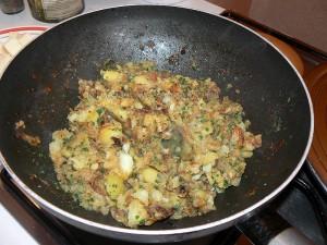 Truffade et son jambon cru etape3