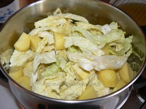 Gratin de chou vert et pommes de terre etape1