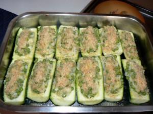 Courgettes farcies au roquefort etape6
