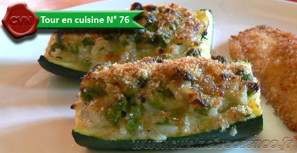 Courgettes farcies au roquefort