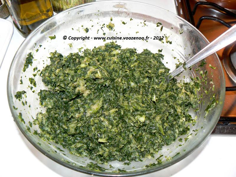 Boulettes d'épinards au poulet en sauce etape4
