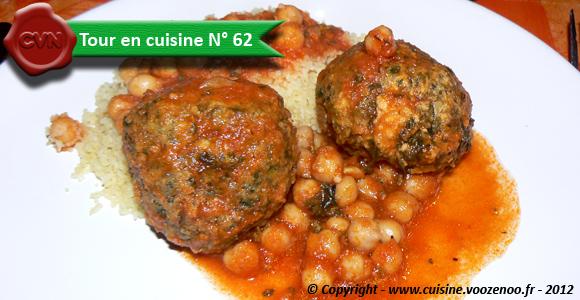 Boulettes d'épinards au poulet en sauce