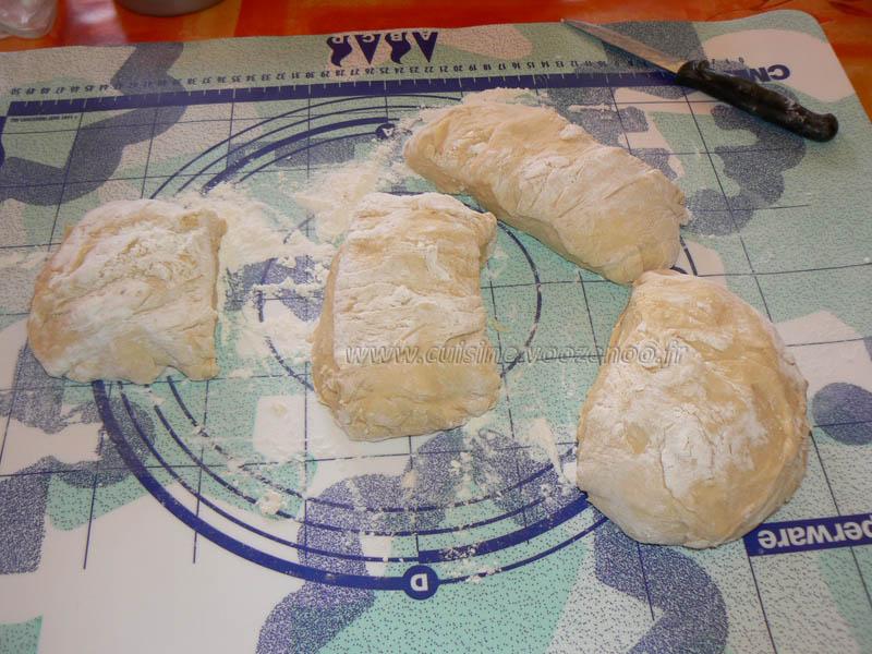 Baguettes viennoises fourrées au Daim etape3