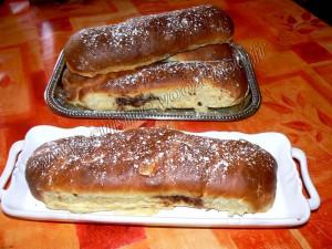 Baguettes viennoises fourrées au Daim presentation