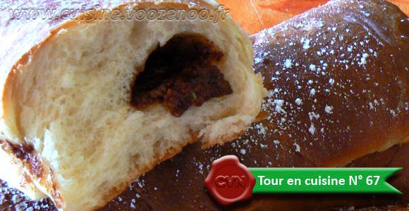 Baguettes viennoises fourrées au Daim