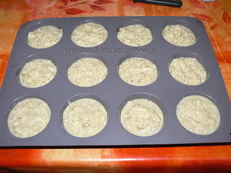 Moelleux aux flocons d'avoine et pommes etape3