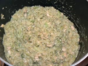Risotto au brocolis, saumon et parmesan etape3