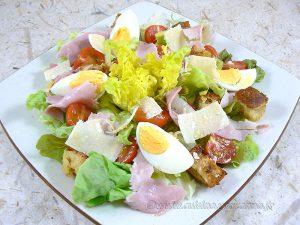 "Salade César ""allégée"" fin"