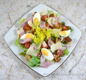 "Salade César ""allégée"" presentation"