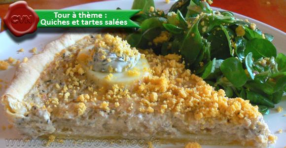 Oeufs mimosas revisités façon quiche au thon