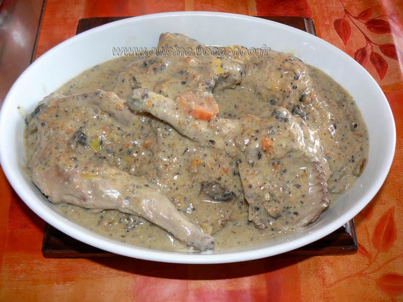 Lapin sauce poulette fin