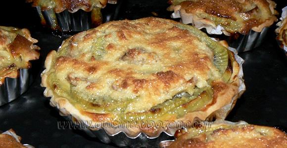 Tartelettes bananes kiwis et coco une