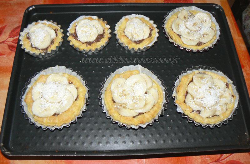 Tartelettes aux bananes et nutella etape3