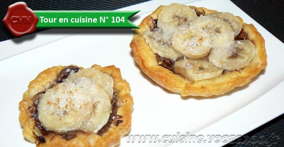 Tartelettes aux bananes et nutella