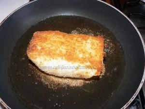 Roules de carrelet et saumon fume panes etape8
