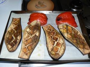 Salade poivrons e taubergines marines etape1