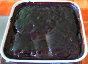 Brownies au fromage blanc sauce caramel fin