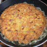 Brochette de tortilla de patatas au jambon cru etape4