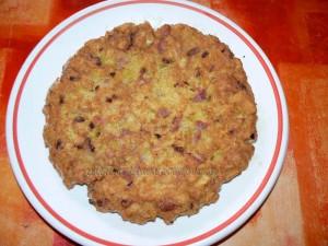 Brochette de tortilla de patatas au jambon cru fin