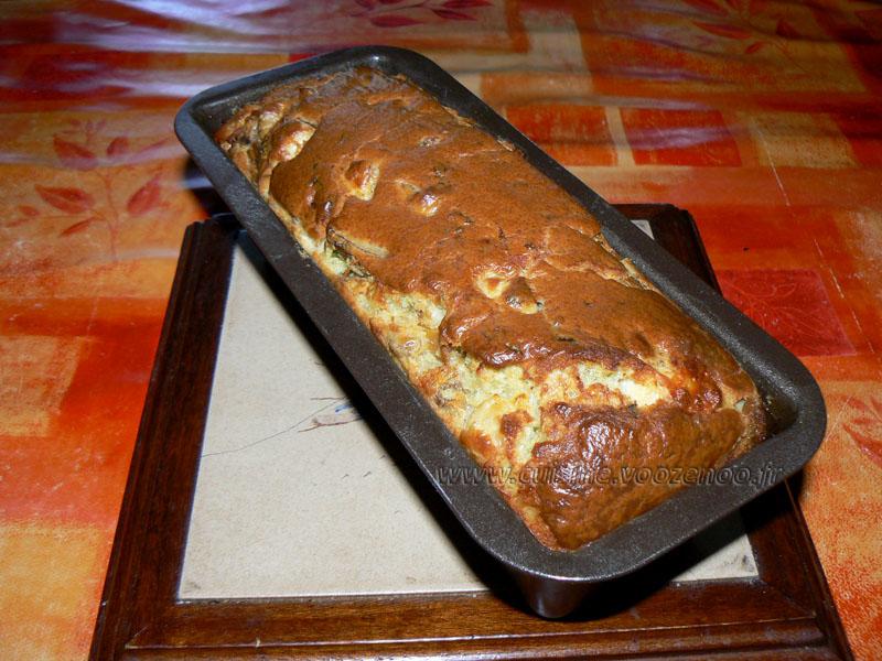 Cake aux blancs de poulet, champignons et mozzarella fin