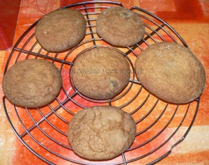 Cookies aux grains de cafe enrobes au chocolat etape5