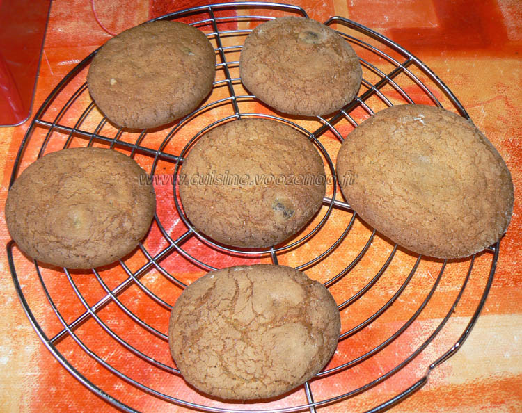 Cookies aux grains de cafe enrobes au chocolat etape5
