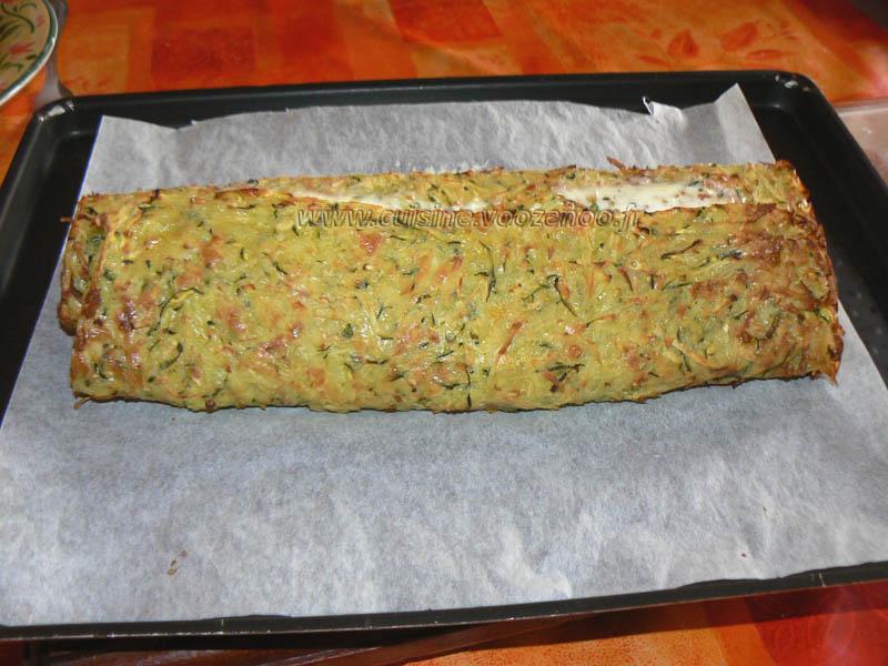 Roules courgettes pommes de terre boursin et truite fumée fin
