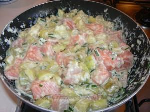 Crumble de saumon et courgettes etape4