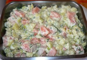 Crumble de saumon et courgettes etape5