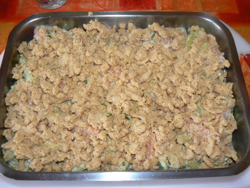 Crumble de saumon et courgettes etape7
