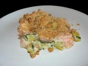 Crumble de saumon et courgettes presentation2