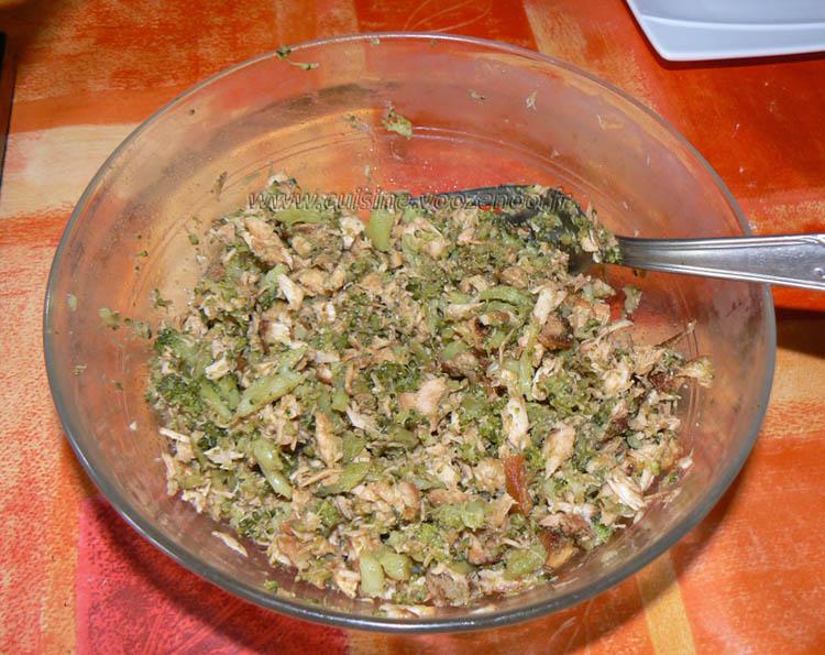 Onigiri, boulettes de riz au saumon et brocolis etape4