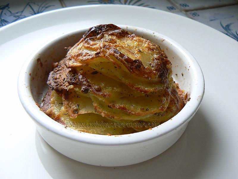 Millefeuilles de pommes de terre presentation