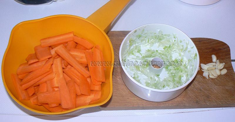 Fèves fraîches sautees aux carottes etape2