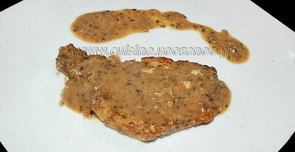 Côtes de porc sauce sésame