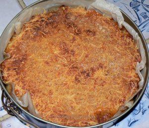 Gâteau de pommes de terre-courgettes au Saint Nectaire fin