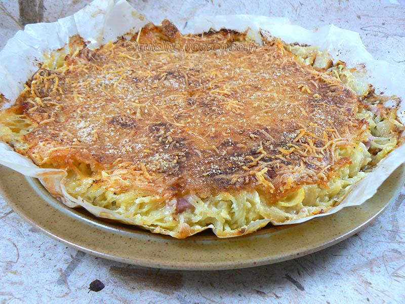 Gâteau de pommes de terre-courgettes au Saint Nectaire fin2