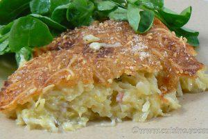 Gâteau de pommes de terre-courgettes au Saint Nectaire