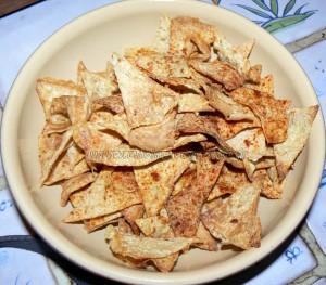 Chips de tortillas light presentation