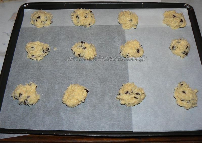 Cookies au chocolat et coco etape2