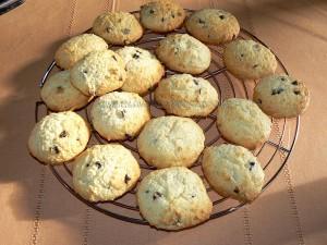Cookies au chocolat et coco fin