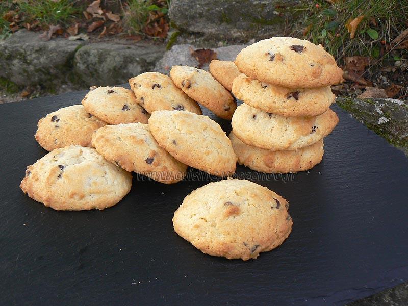 Cookies au chocolat et coco presentation