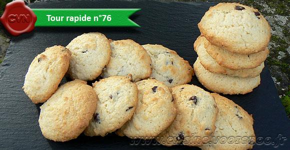 Cookies au chocolat et coco
