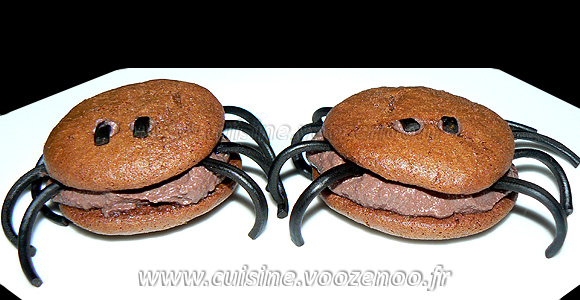 "Whoopies ""araignees"" au chocolat une"